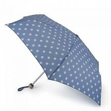 Cath Kidston Minilite Folding Umbrella - Button Spot Denim