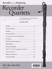 Bass Recorder Quartets Part Learn to Play Scarborough Fair On My Own Music Book