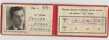 Very rarre JNA Army Military Soldiers ID Card 1959 Yugoslavia Communist Period !