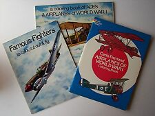 3 Coloring Books! ACES & AIRPLANES OF WWI, FAMOUS FIGHTERS, AIRPLANES OF WWI -F1