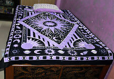 Sun Moon Star Indian Single Bedspread Hippie Psychedelic Tapestry Throw Wall Art