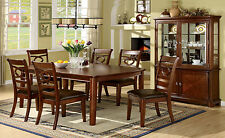 Modern Dining Room 7pc Dining Set Table w/ Leaf Padded Seat Chairs Unique Framed