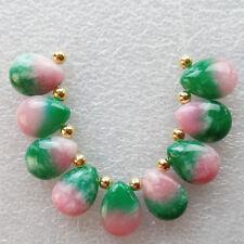 R0074124 Beautiful 9pcs Teardrop Jade Pendant Bead set