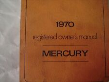 1970 Mercury Registered ORIGINAL OWNERS Manual Used Free Shipping