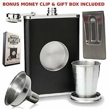 OpenBox 8oz Shot Flask with Bonus Funnel and Money clip Gift Set by Freedom Shot
