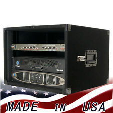 Amp Rack Case 8U Space heavy duty for Power Amplifiers Processors Music gear