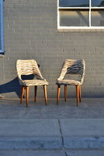 Vintage Mid century  2 dining chairs zebra print 1950s