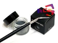 Pro Long Lasting Waterproof Silver Grey Gel Eyeliner & Eye Liner Brush