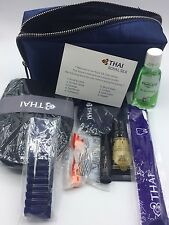 NEW RELEASE Thai Airway Travel Amenity Kit Cosmetic Navy blue Bag GREYHOUND