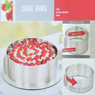 """6-12"" Adjustable Stainless Steel Mousse Cake Ring 2Handle Layered Baking Mold"