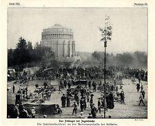 Jahrhundertfeier an der Befreiungshalle in Kelheim Das Feldlager Jugendwehr 1913