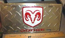 Dodge Ram Embossed Metal License Plate, cool collectors item! made in the USA