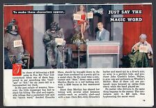 1958 Tv Article~GROUCHO MARX~YOU BET YOUR LIFE~MARILYN BURIS~WALTER GUEDEL