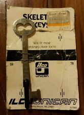 Vintage Ilco 2B Skeleton Key Authentic Original Packaging Unused On Carboard