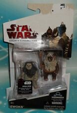 STAR WARS LEGACY COLLECTION RED CARD BD-18 EWOKS NHO'APAKK & PAPLOO FIGURE