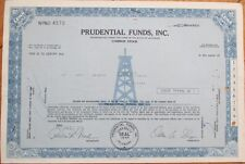 1971 Oil Well Stock Certificate: Prudential Funds, Inc.