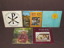 JACQUES MICHEL 5 LP RECORD ALBUM LOT COLLECTION Pas Besoin/Dieu Ne Mange Plus+