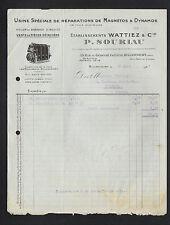 """BILLANCOURT (92) USINE de Réparation de MAGNETOS """"WATTIEZ / P. SOURIAU"""" en 1927"""