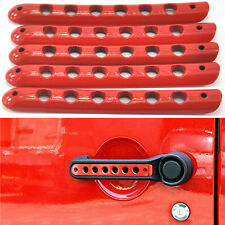 Red Handle Cover Trim Bar Moulding for 2007-2015 JEEP Wrangler JK 4 Door