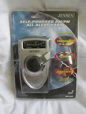 Brand New Sealed Jensen Self-Powered AM/FM Weather Band All Alert Radio MR-550