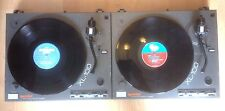 "2 X GEMINI XL100 TURNTABLES & 10 X NEW 12"" VINYL RECORDS DECKS PARTY RAVE DJ"