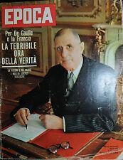 EPOCA N°600/1/APR/1962 * X DE GAULLE E LA FRANCIA LA TERRIBILE ORA DELLA VERITA'