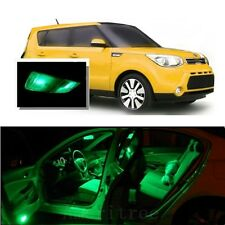 For Kia Soul 2014-2016 Green LED Interior Kit + Green License Light LED