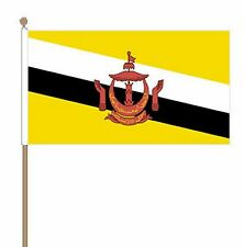 "BRUNEI Polyester medium HAND WAVING FLAG 9""X6"" 22.5cm x 15cm"