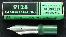 ESTERBROOK 9128 flexible extra fine fountain pen nib - new old stock