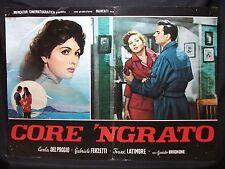 FOTOBUSTA CINEMA - CORE 'NGRATO - CARLA DEL POGGIO - 1951 - DRAMMATICO - 03