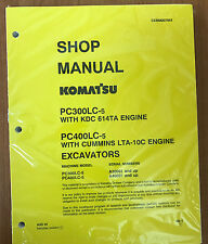 Komatsu PC300LC-5LC, PC400LC-5LC Service Repair Printed Manual