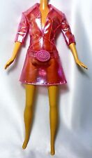 Barbie Pink Plastic Transparent Raincoat