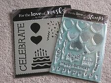 BIRTHDAY BALLOONS- STAMP SET AND MASK - FOR THE LOVE OF STAMPS- HUNKYDORY