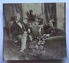 Vers 1860 Photographie ancienne albumine colorisée costume personnages intérieur