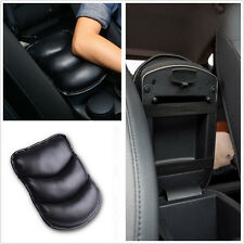 Wear-resisting Car Armrest Box Cover Center Console Seat Soft Pad PU Mat Black