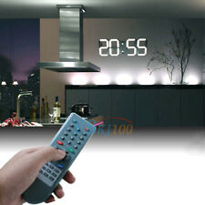 Large Digital LED Wall Clock Alarm Watch 24/12-Hour Date Display Timer w/ Remote