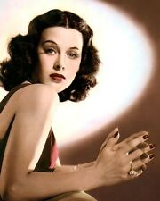 "HEDY LAMARR HOLLYWOOD ACTRESS MOVIE STAR 11x14"" HAND COLOR TINTED PHOTOGRAPH"