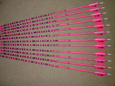 1 DZ. gold tip  3555 PINK & BLACK CAMO CARBON BLEMISHED ARROW W/VANES