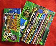 Two 12-Packs of O'Bon Colored Art Pencils - Wildlife Ecology Series