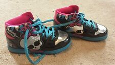 MONSTER HIGH Tennis Shoes Glittery Skulls Sneakers - GIRLS Size 3 high tops