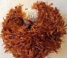 Crystal Palace Splash #203 Copper Feather Boa Short Eyelash Yarn 100 Gram 85 Yds