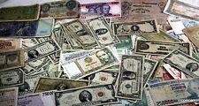 150 + Rare World Banknotes Many 100+ Year Russia-Greek-Japan, + 12 Rare US Notes
