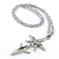 Anime Fate Stay Night Metal Cross Silver Necklace Pendant Chains Cosplay