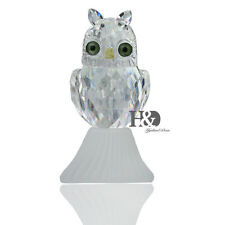 Cute Owl Glass Crystal Figurines Ornament Collectible Paperweight Birthday Gift