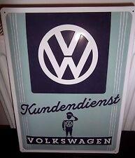 VW VOLKSWAGEN Kundendienst   EMBOSSED 3D XL METAL SIGN 40X30cm  16X12 INCH