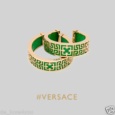 New Versace #GREEK hoop earrings in Green