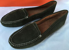 Naturalizer Simmons-N Green Suede Leather Slip-On Moc Loafers Shoes Women's 8 N