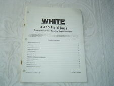 White 4-17 5 Field Boss General Tractor Service Specifications Manual