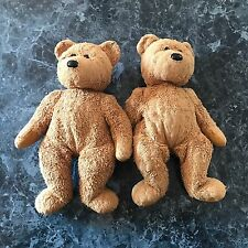"Ty Teddy Bears 14"" LOT OF 2 Collectible Plush Toys BIG BEANIE BABY, TEDDY BEAR"