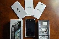 NEW Black iPhone 4S 16GB Unlocked + 1-Year Warranty TMobile Straight Talk